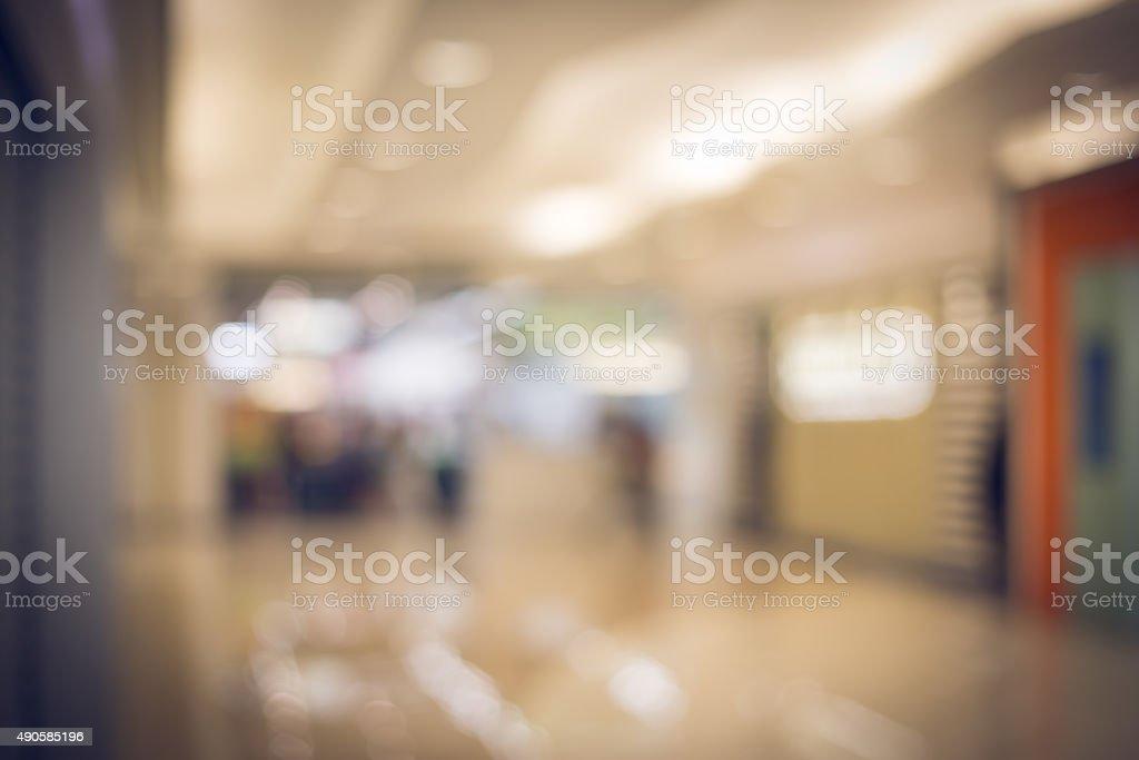 Bokeh blurred Shopping Mall Background stock photo