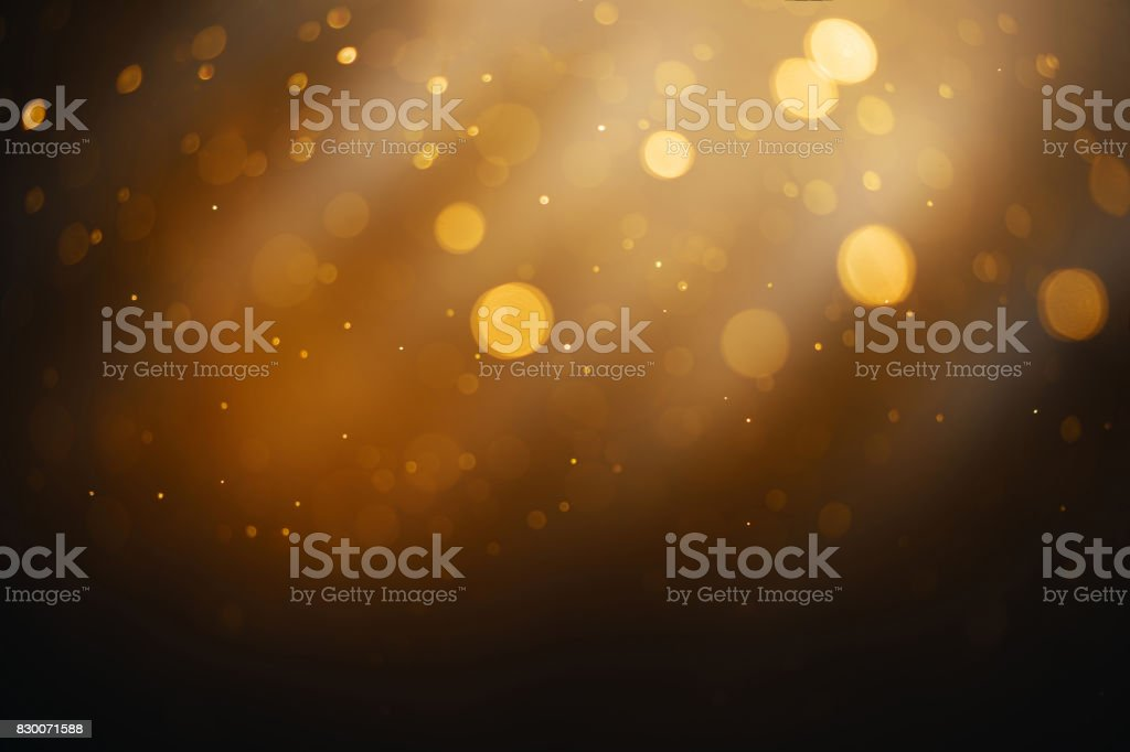 Bokeh circle abstract gold, black and white effect with flow and...