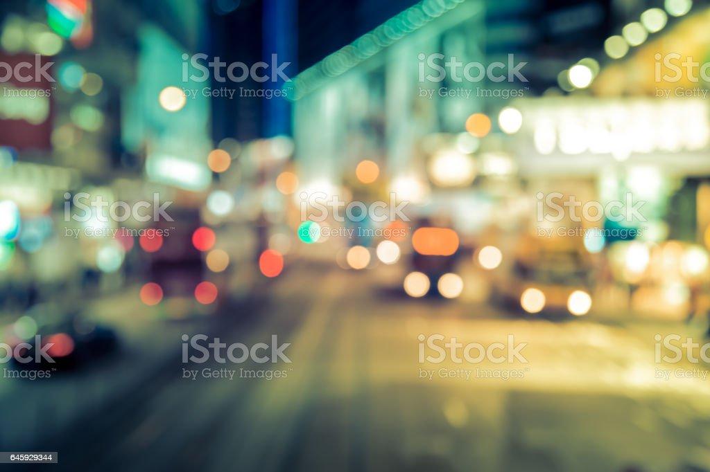 Bokeh City Street Light Background stock photo