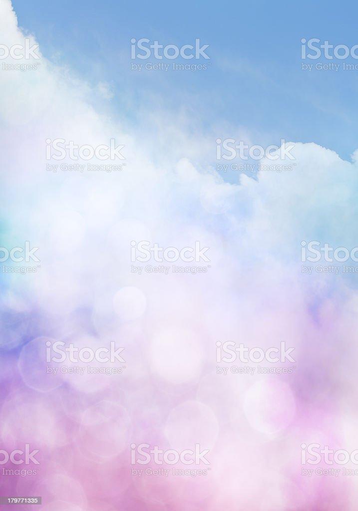 Bokeh Cloud Gradient royalty-free stock photo
