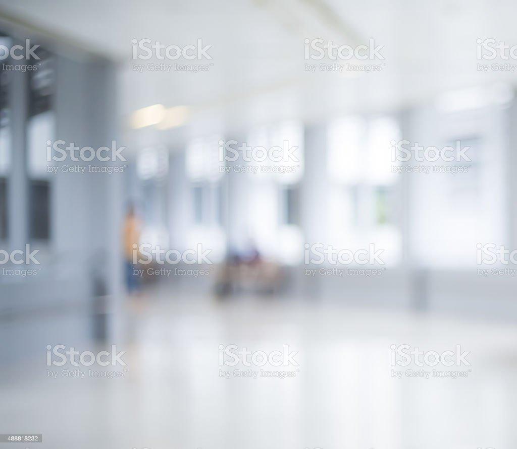 Bokeh defocused background  - Clean and modern hosptial stock photo