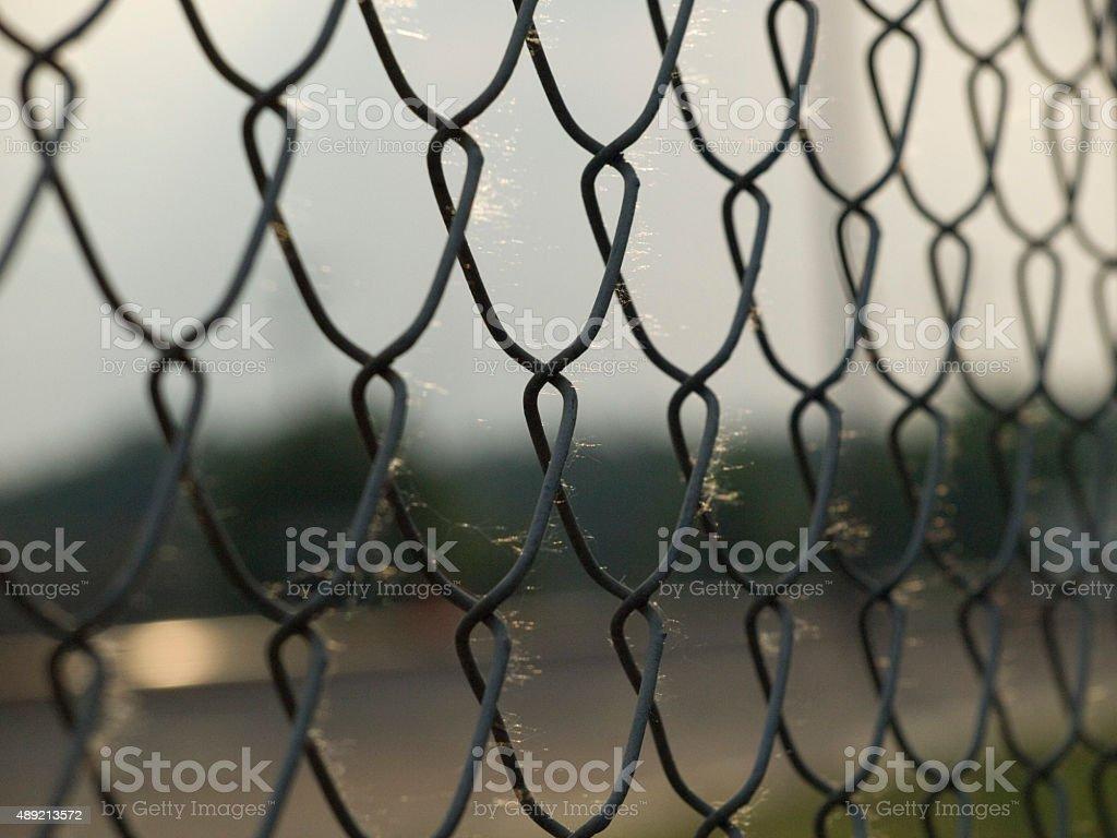 Bokeh Fence royalty-free stock photo