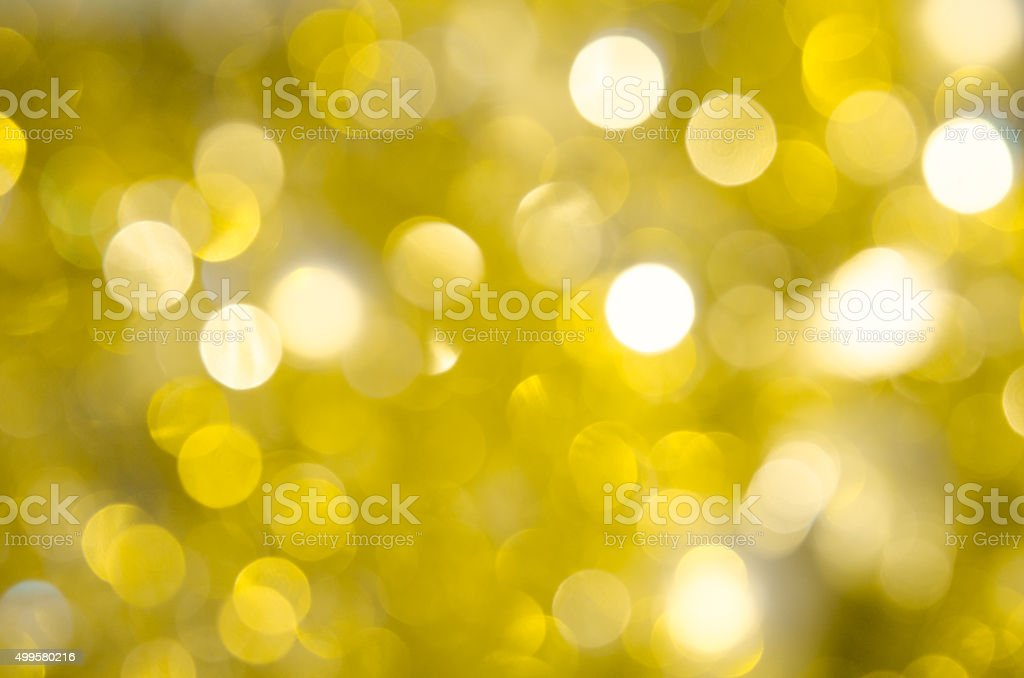 Bokeh gold colour abstract background stock photo