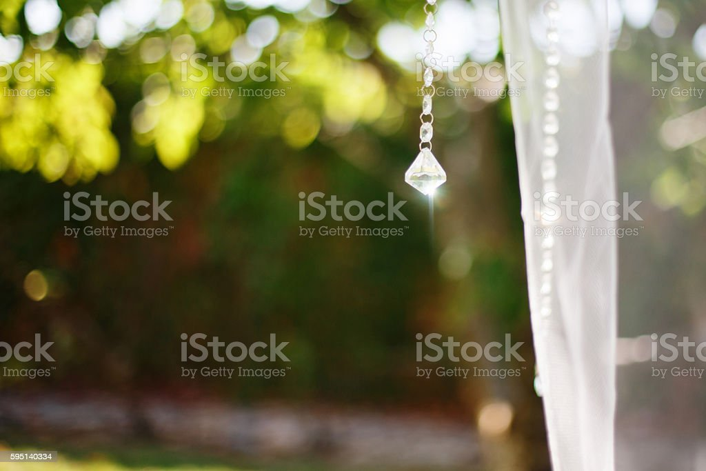 Bokeh green nature background. stock photo
