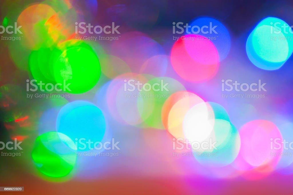 bokeh in colorful tones stock photo