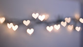 Bokeh lights, heart shapes