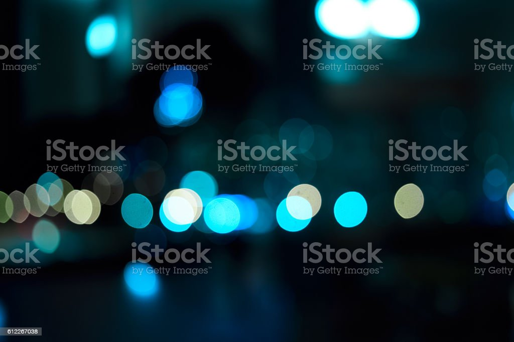 Bokeh night city stock photo