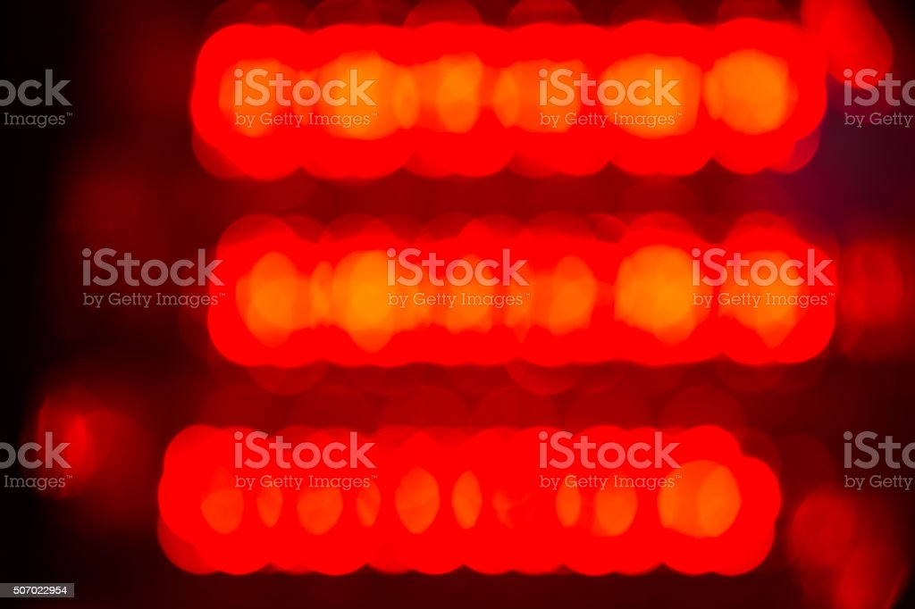 Bokeh of the LED stock photo