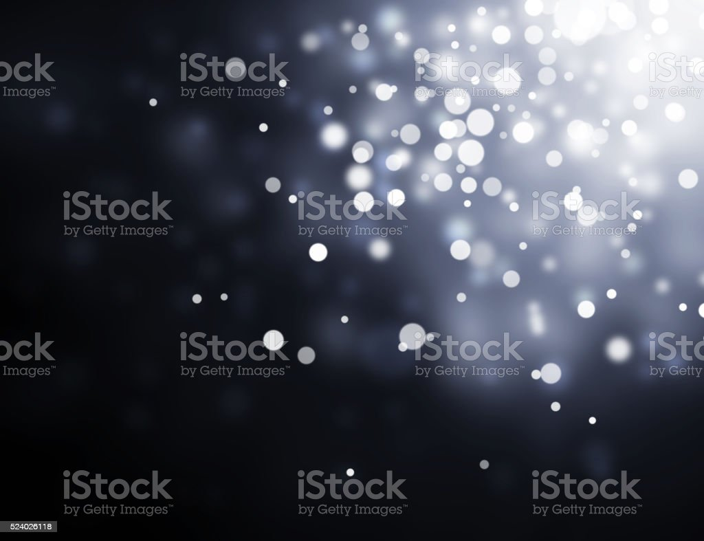 bokeh of water fly and lights on black background stock photo