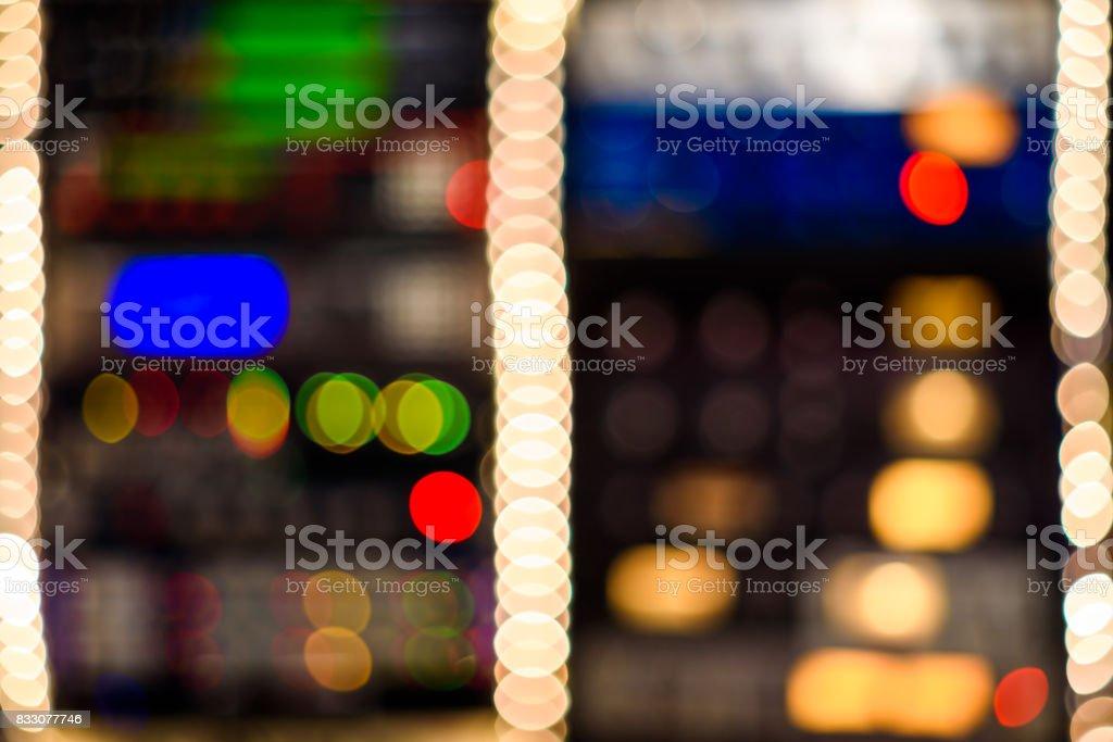 Bokeh Rack stock photo