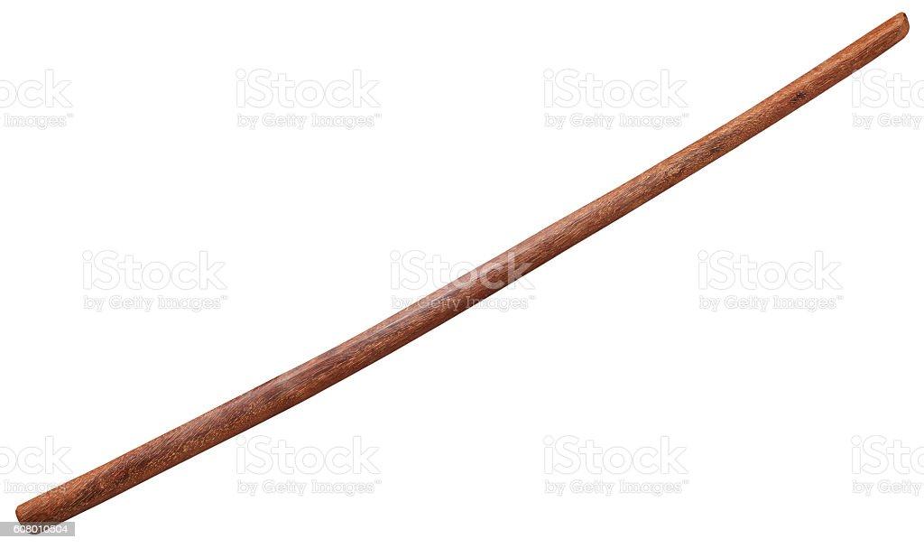 bokken Japanese wooden sword isolated stock photo