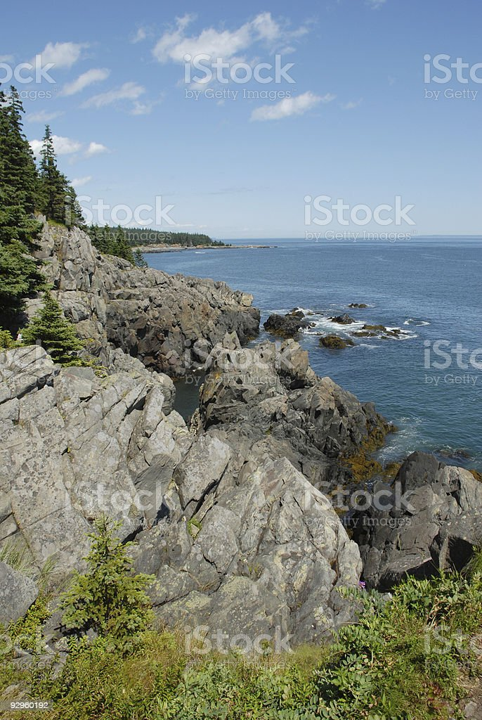 Bold Coast of Maine at Cutler royalty-free stock photo