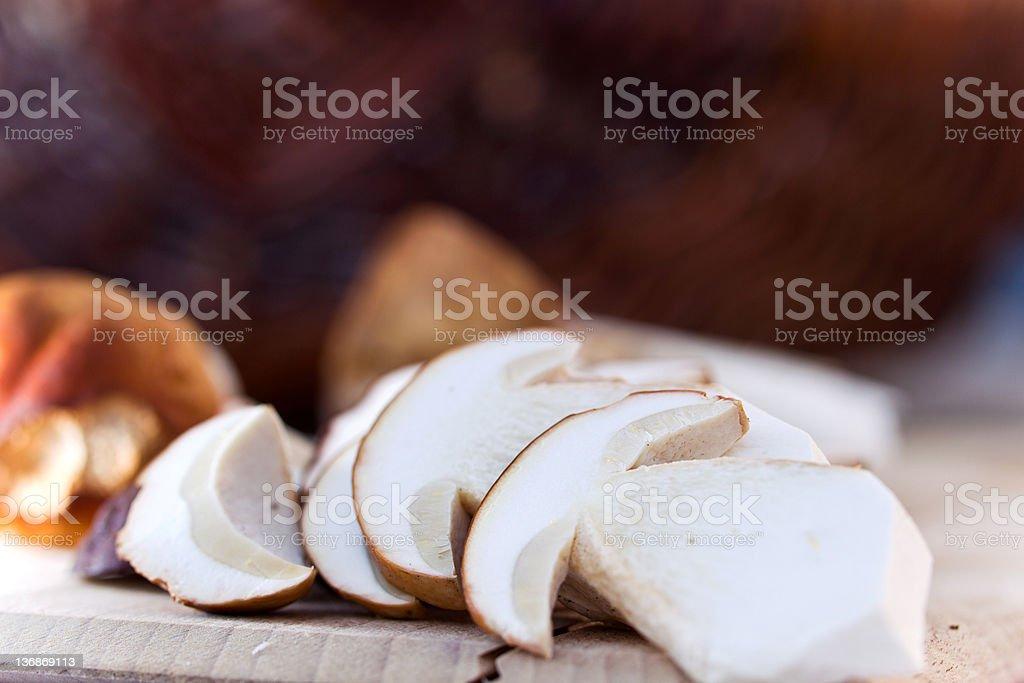 Boletus edulis Fresh Mushrooms Porcini Steinpilz royalty-free stock photo