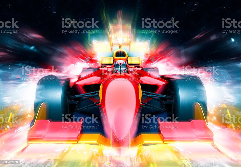 F1 bolide with light effect stock photo
