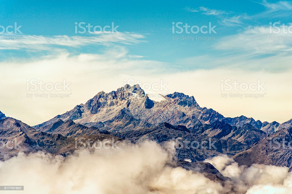 Bolivar and Humboldt mountain peaks at Merida state. Andes. Venezuela stock photo