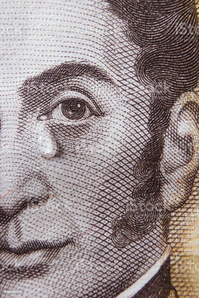 Bolivar Crying stock photo