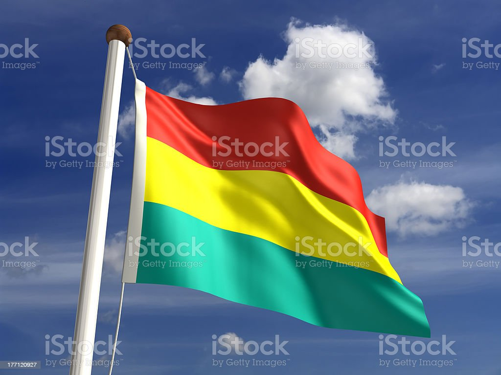 Bolivia flag (with clipping path) stock photo