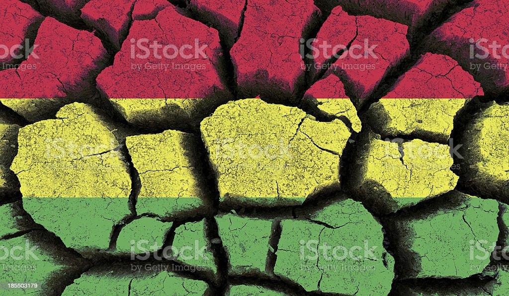 Bolivia flag. royalty-free stock photo