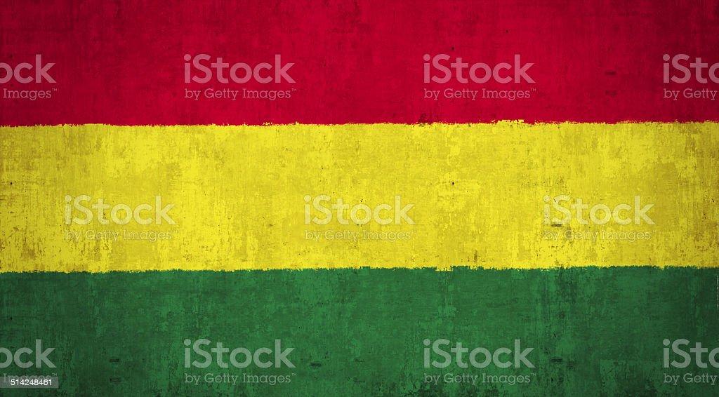 Bolivia Flag stock photo
