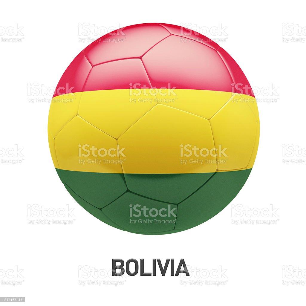 Bolivia Flag Soccer Icon stock photo