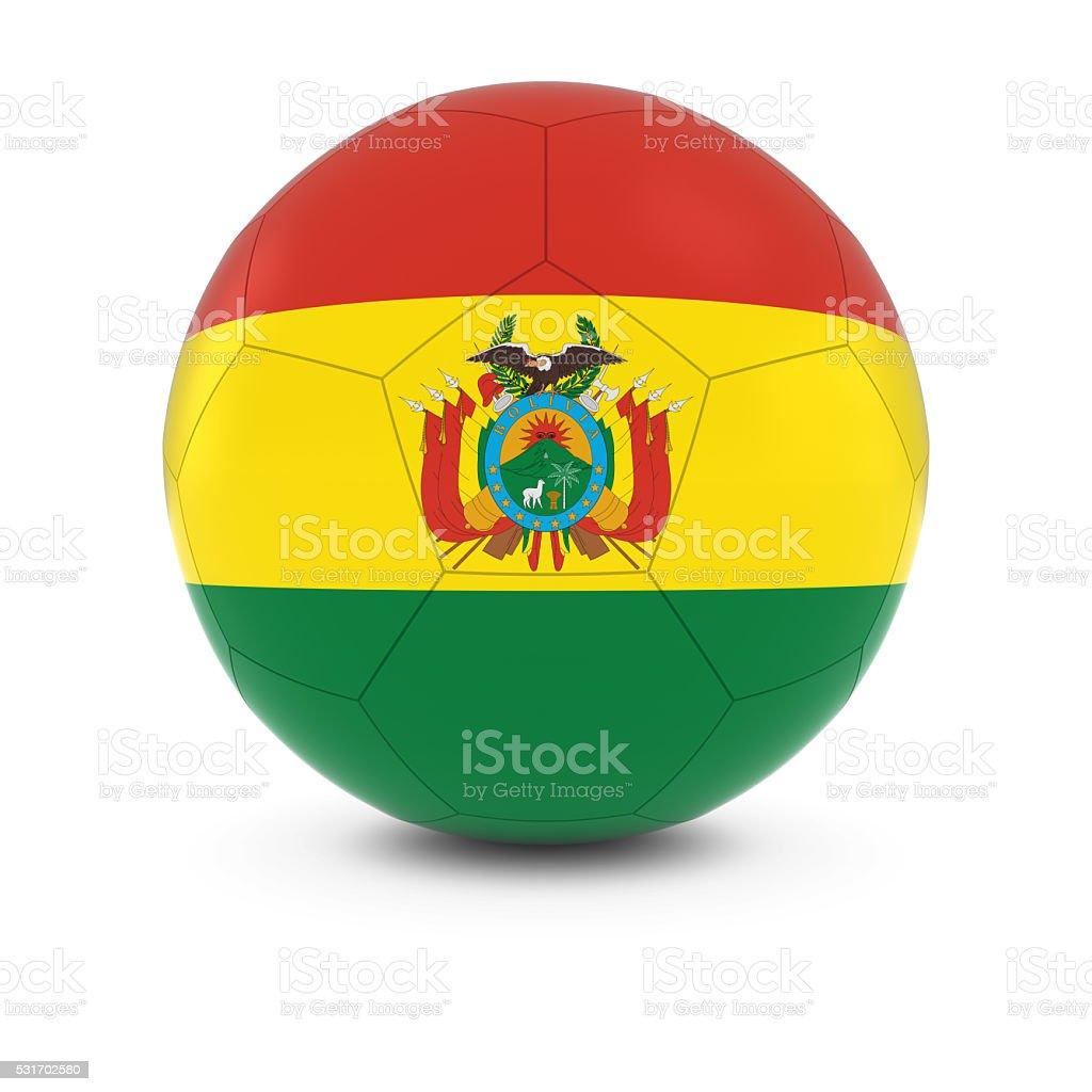 Bolivia Football - Bolivian Flag on Soccer Ball stock photo