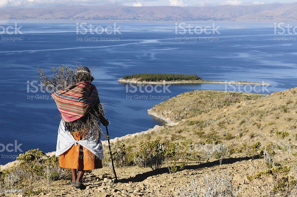 Bolivia, Native women stock photo