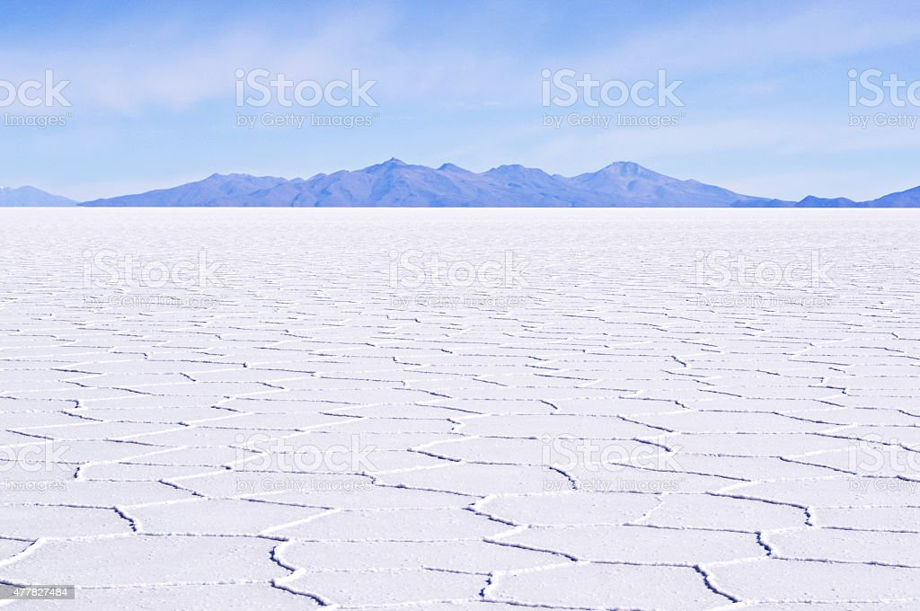 Bolivia Salt Flats Landscape stock photo