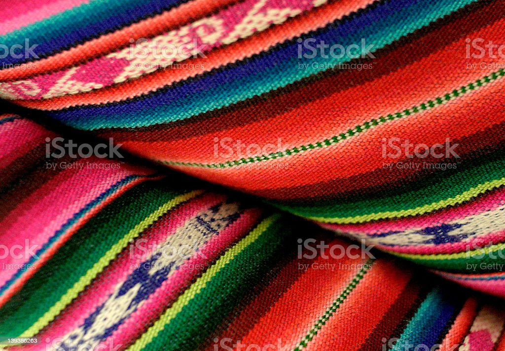 bolivian blanket royalty-free stock photo