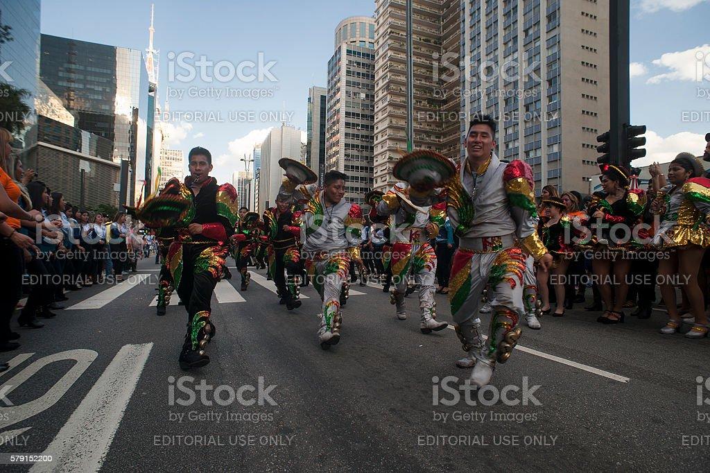 Bolivian Dancers stock photo