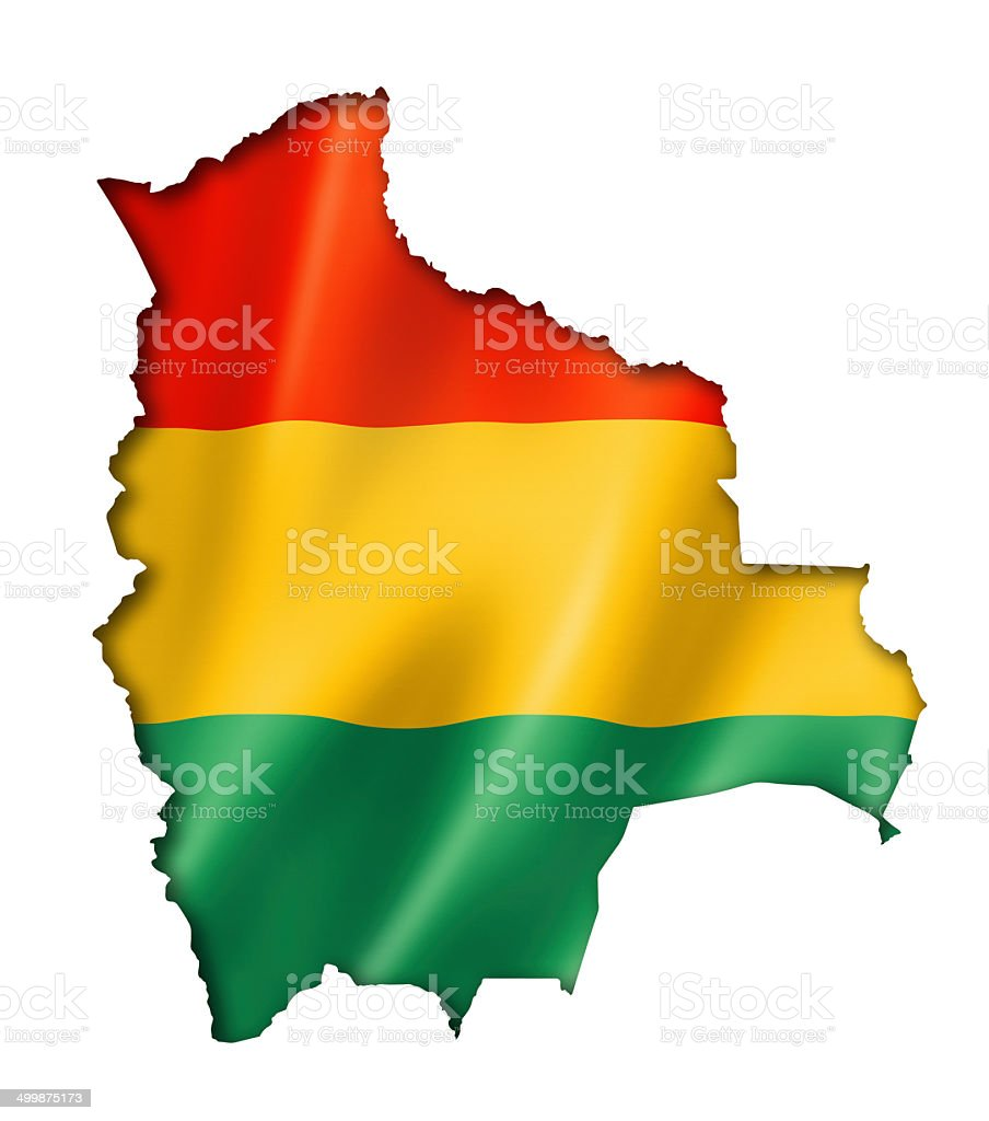 Bolivian flag map stock photo