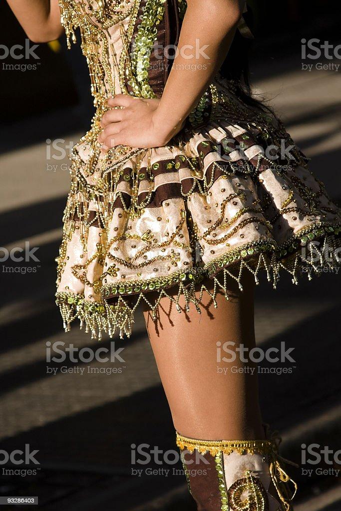 Bolivian girl costume royalty-free stock photo