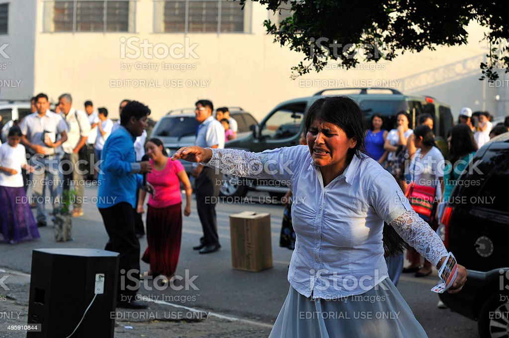 Bolivian Ritual stock photo
