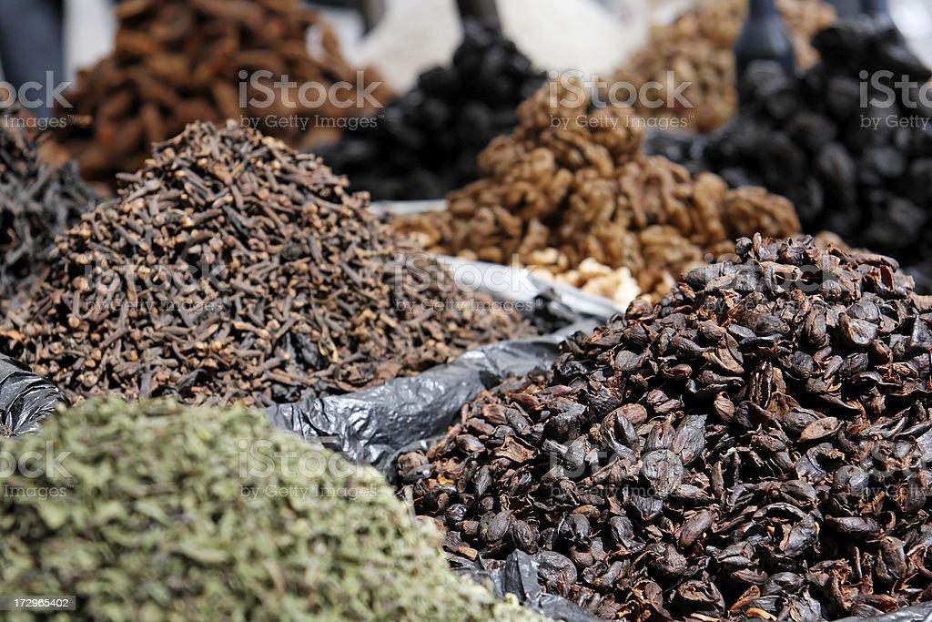 Bolivian spice market royalty-free stock photo