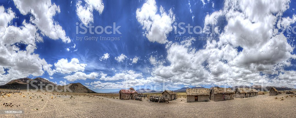 Bolivian Village Panorama royalty-free stock photo