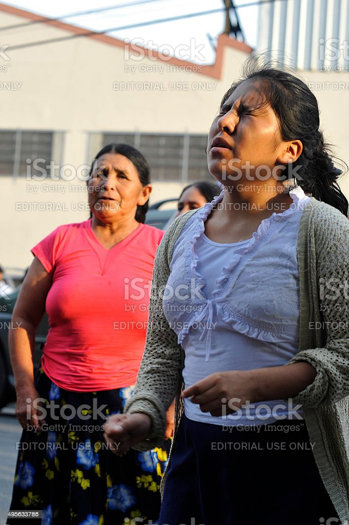 Bolivian Womens stock photo