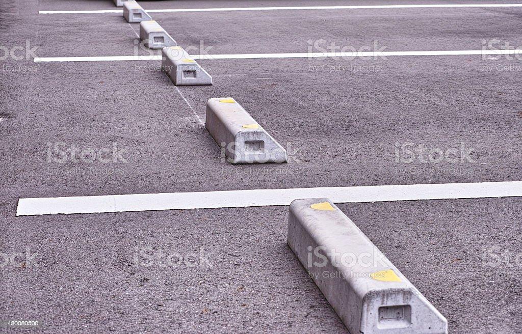 Bollard parking stock photo