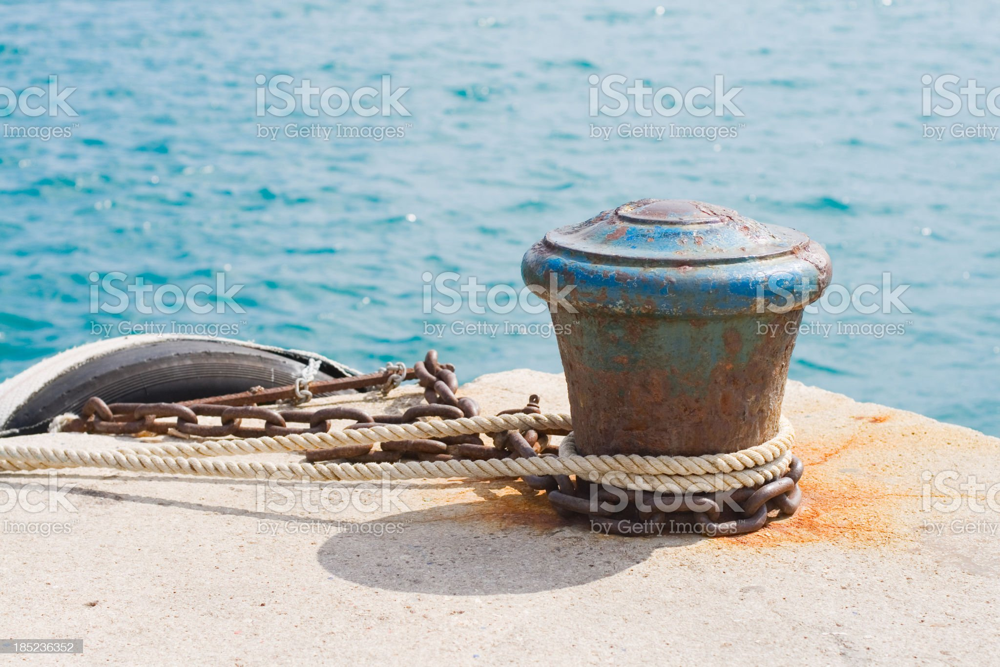 Bollard royalty-free stock photo