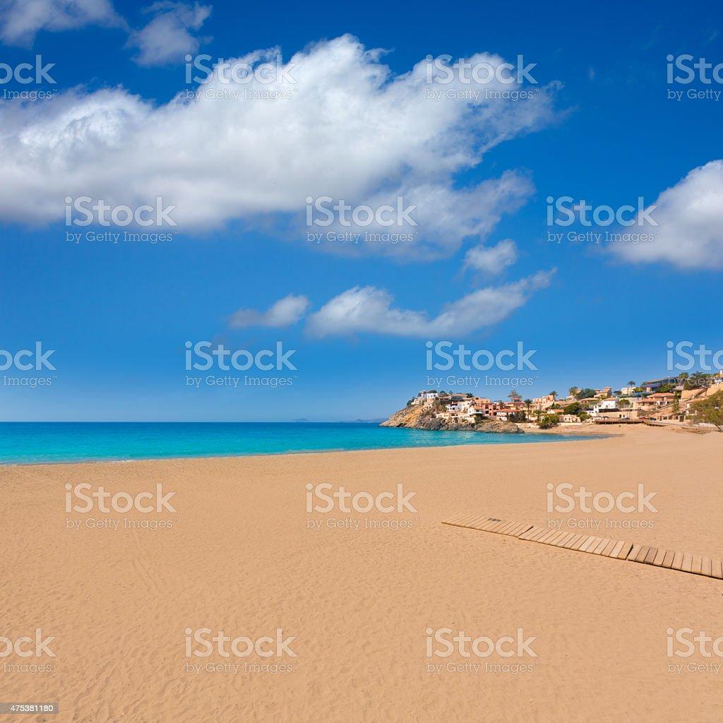 Bolnuevo beach in Mazarron Murcia at Spain stock photo