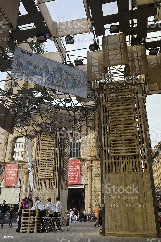 Bologna, art installation for Expo 2015 stock photo