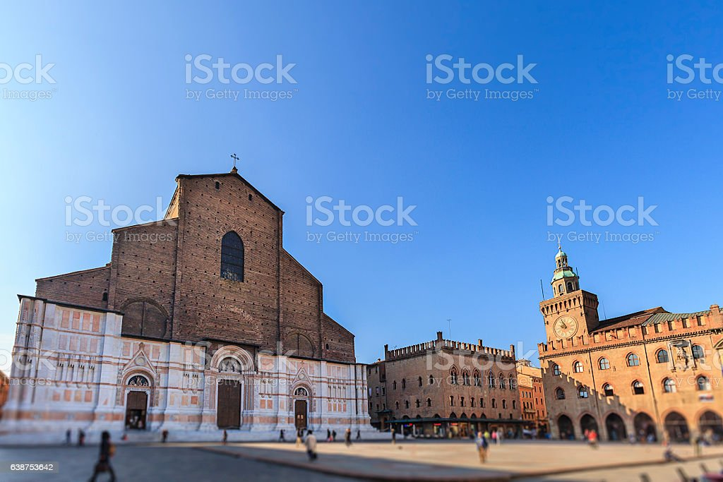 Bologna, Basilica di San Petronio - Emilia Romagna, Italy stock photo