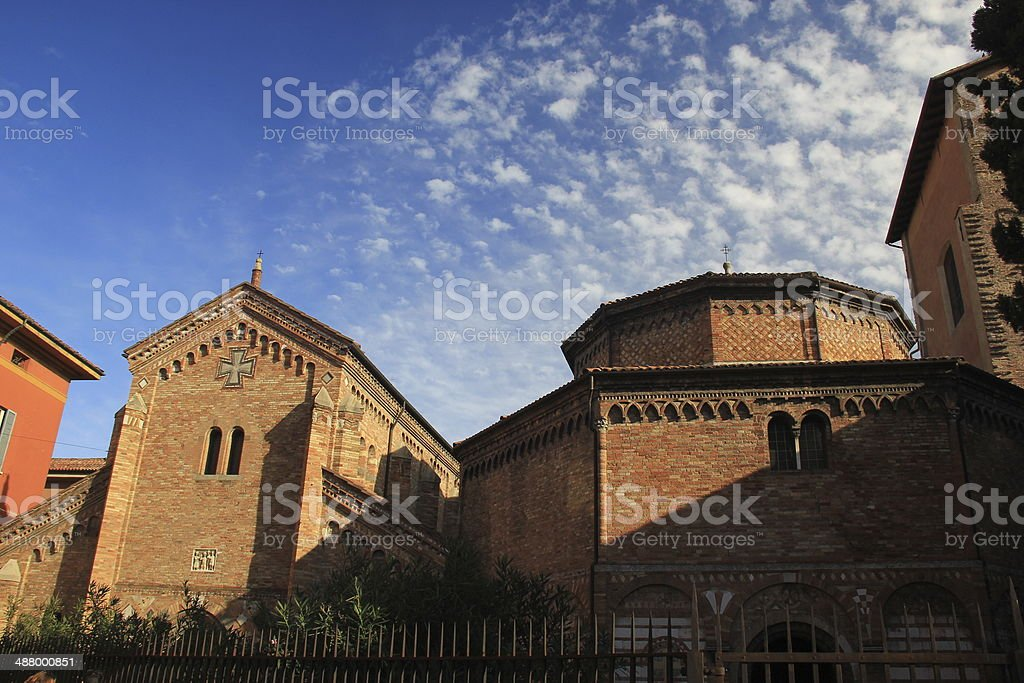 Bologna, beutiful, peaceful old town stock photo