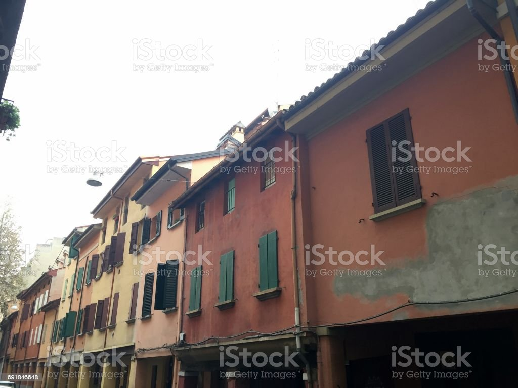 Bologna city view stock photo