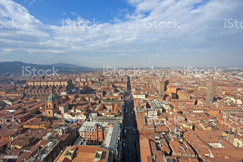 Bologna cityscape stock photo