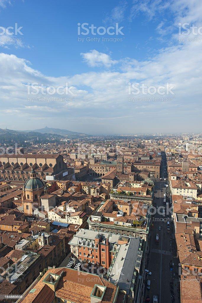 Bologna cityscape stock photo