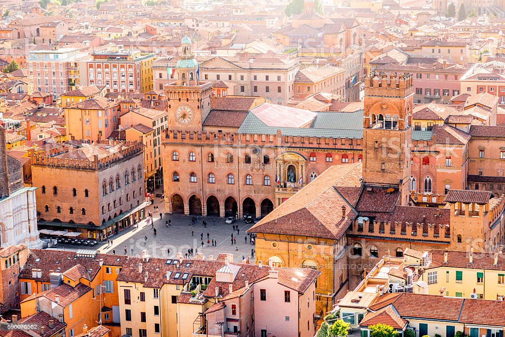 Bologna cityscape view stock photo