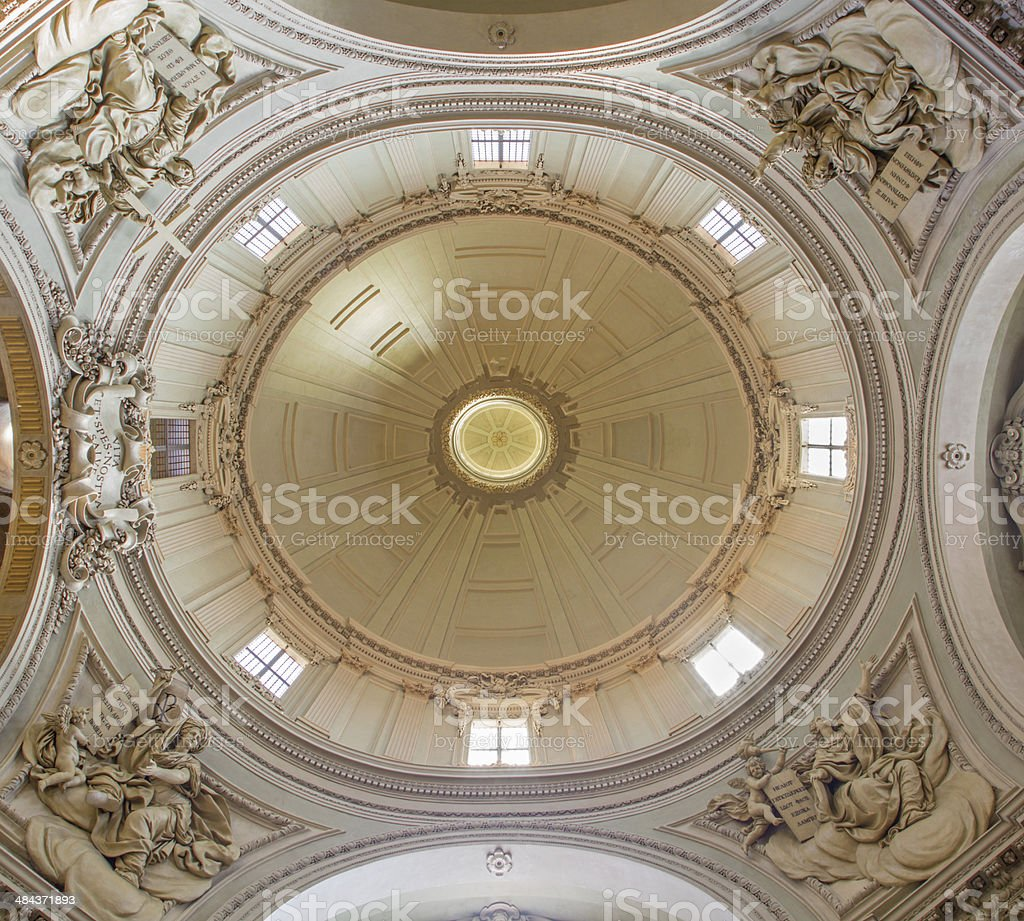 Bologna - Cupola of baroque church Santa Maria della Vita stock photo