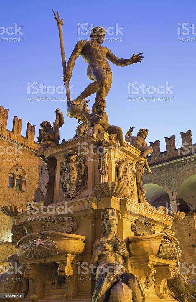 Bologna - Fontana di Nettuno or Neptune fountain stock photo