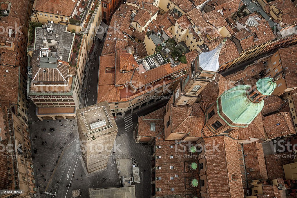 Bologna from Asinelli Tower stock photo