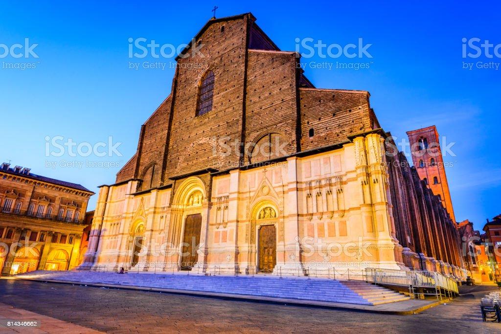 Bologna, Italy - Basilica di San Petronino stock photo