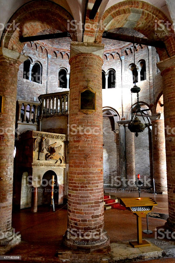Bologna, Italy. Inside 7 churches of old town stock photo